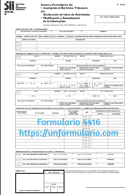 Formulario 4416