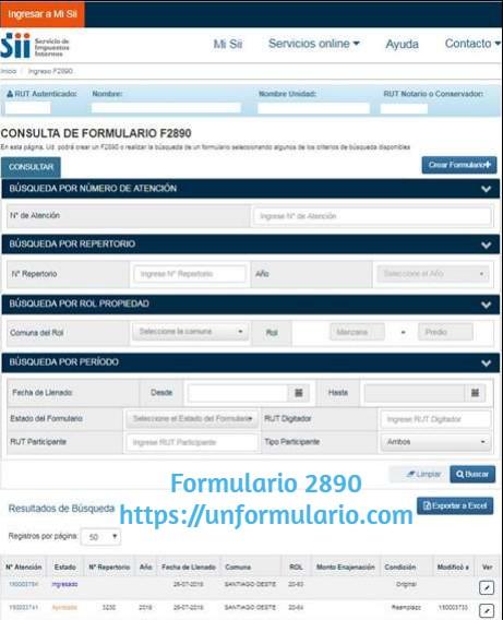 Formulario 2890