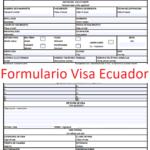 Formulario de solicitud de visa Ecuador