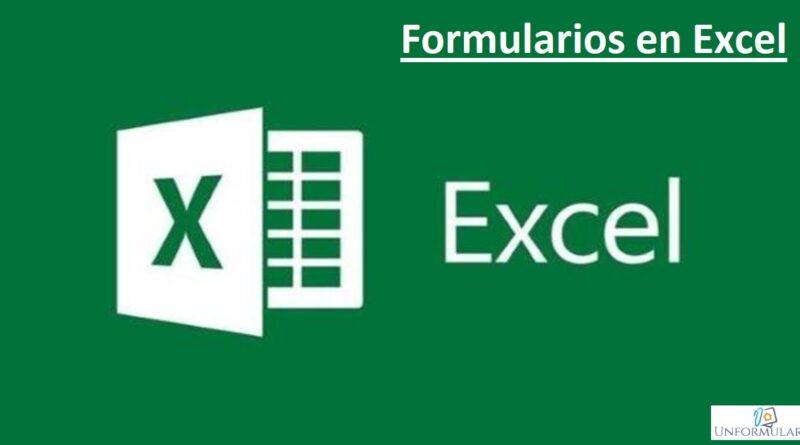 Formulario en Excel