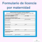 Formulario de licencia por maternidad