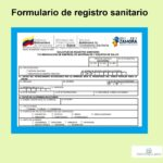Formulario de registro sanitario
