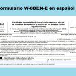 Formulario W-8BEN-E en español