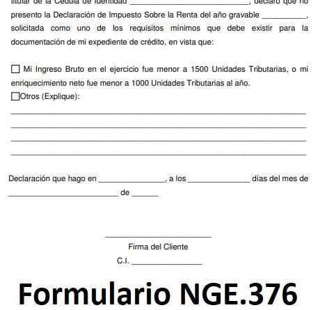 Formulario NGE.376
