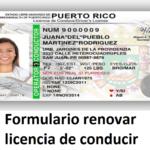 Formulario de renovación de licencia de conducir