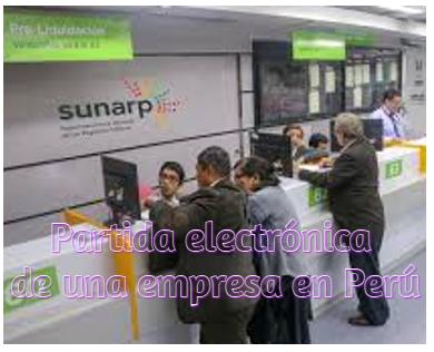 Partida electrónica de una empresa en Perú