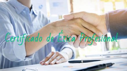 Certificado de Ética Profesional