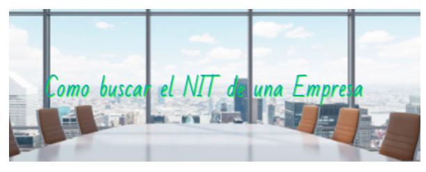 Como buscar el NIT de una Empresa