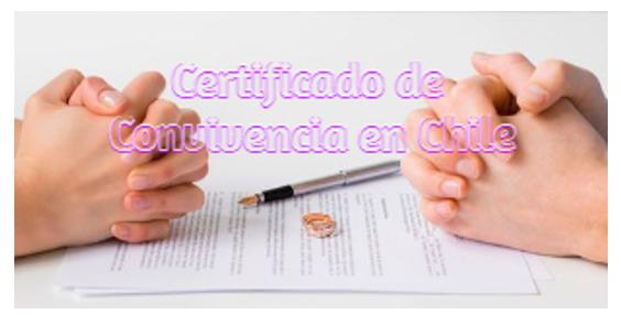 Certificado de convivencia en Chile