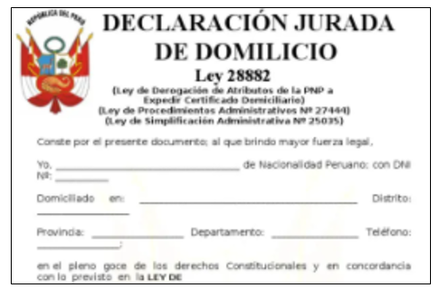 Certificado Domiciliario de Chile