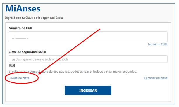 Como Recuperar la Clave Social de ANSES