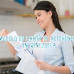 Modelo de Carta de Referencia en Venezuela