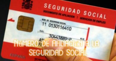 Número de Afiliación a la Seguridad Social