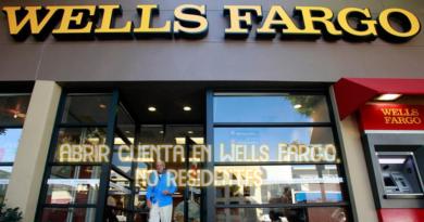 Abrir cuenta en Wells Fargo, no residentes